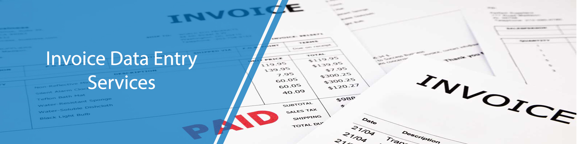 Invoice and Bill Data Entry Services